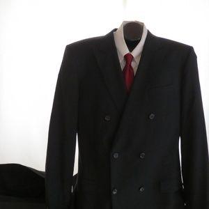 Hugo Boss Black Wool D/B Suit Men's 46L 38X38